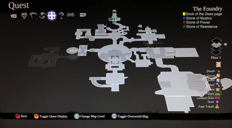 Darksiders II The Foundry Floor 1 Collectibles Map