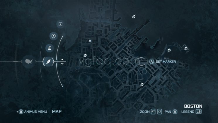 Assassin's Creed III Boston - Central District Treasure Chests Locations