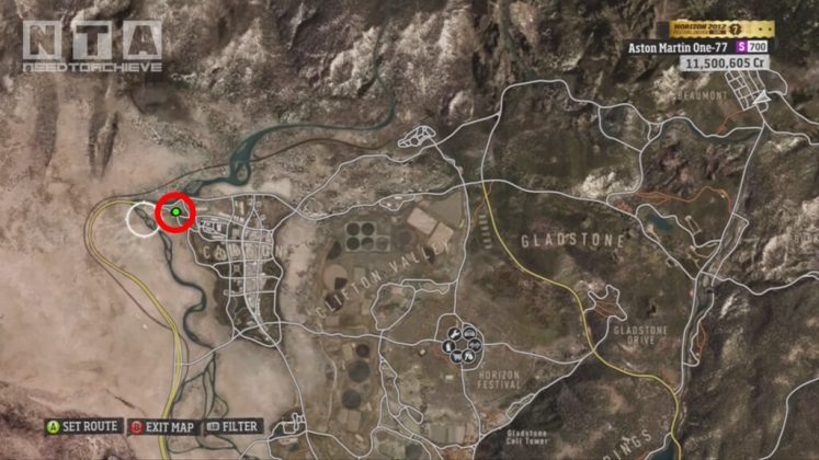 Forza Horizon Barn Finds Locations North-Western Area Map