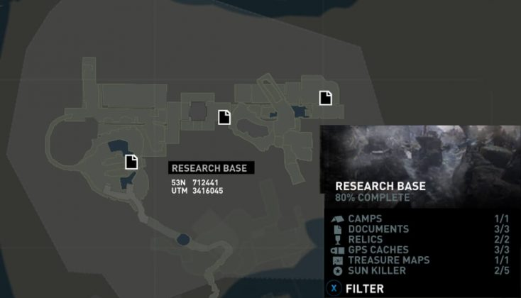 Tomb Raider Research Base Documents Locations