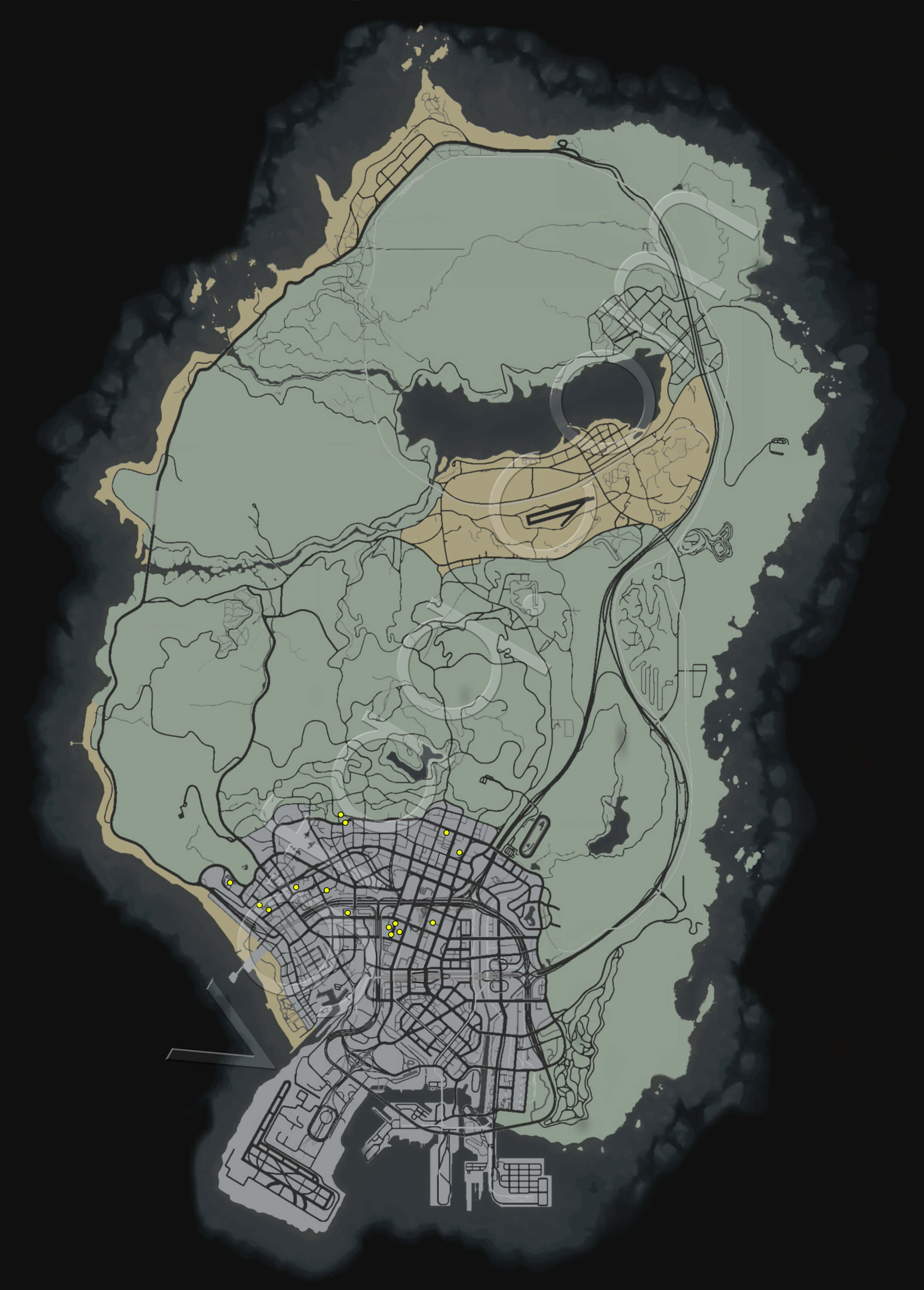 Grand Theft Auto V Knife Flights Aerial Challenge Locations Guide