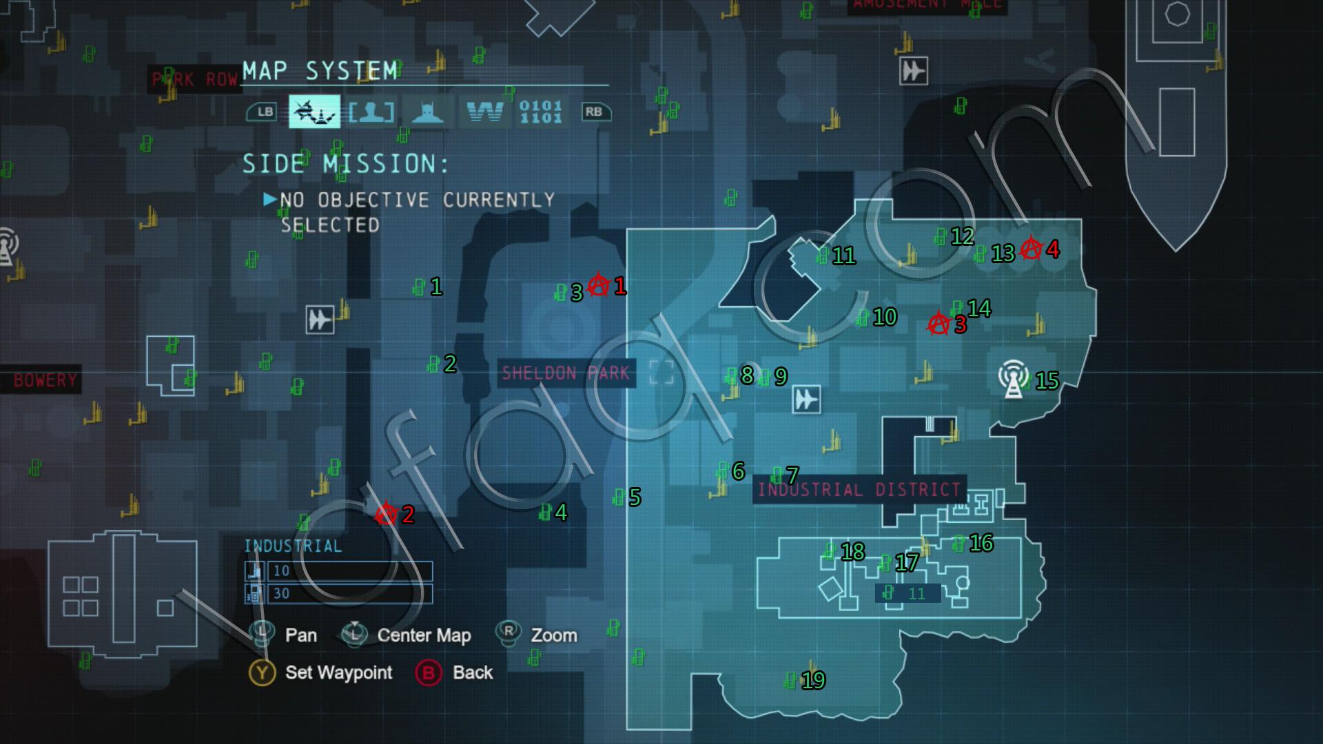 Batman: Arkham Origins Industrial District Collectibles Locations