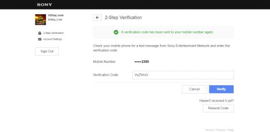 How to Activate the New PlayStation Account 2-Step Verification