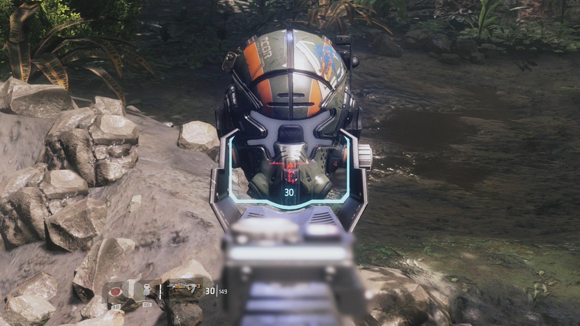 A Pilot Helmet in Titanfall 2