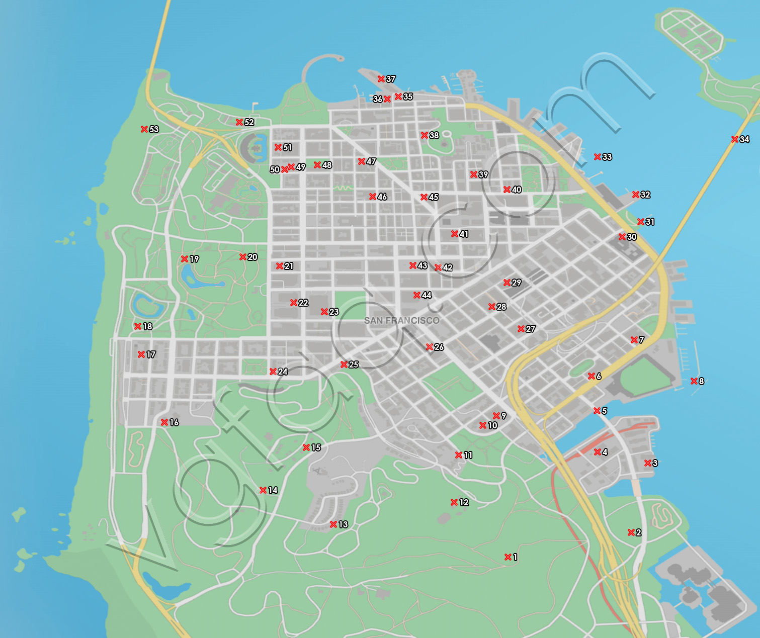 Watch Dogs  All Research Points Locations