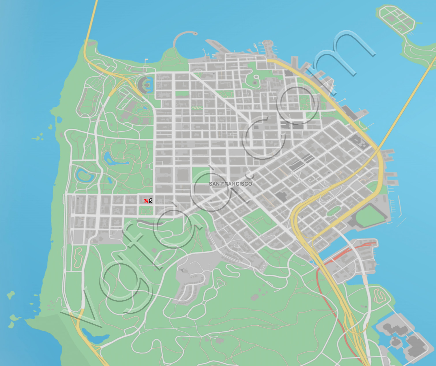 Watch Dogs 2 San Francisco Unique Vehicles Locations Map