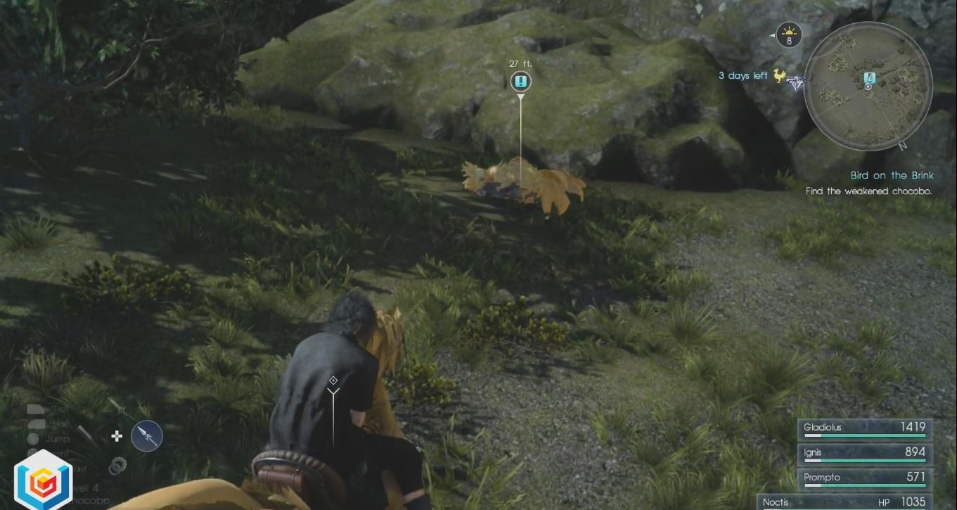 Final Fantasy XV Bird on the Brink Side Quest Walkthrough