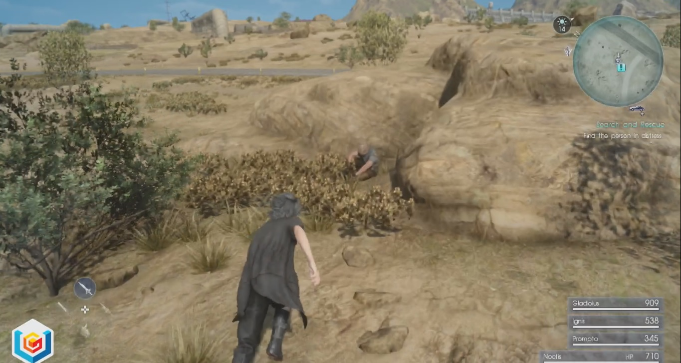 Final Fantasy XV Search and Rescue Side Quest Walkthrough