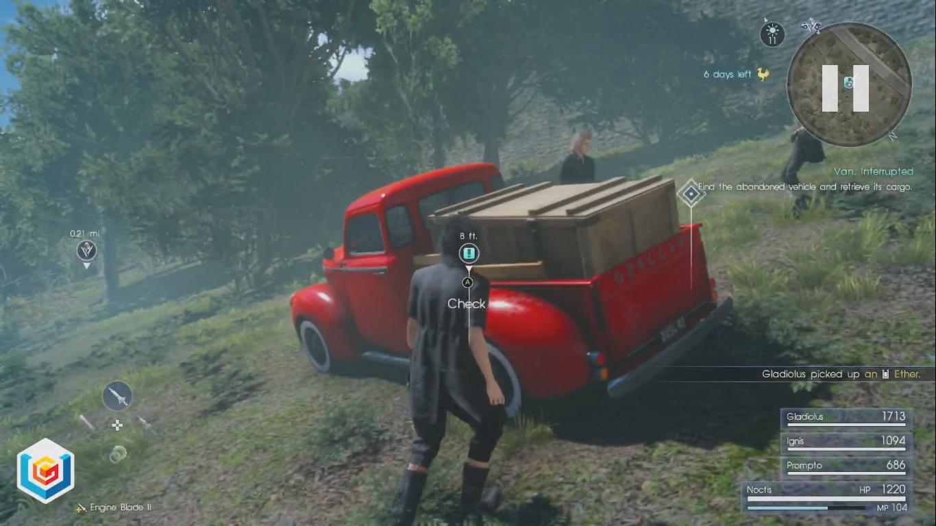 Final Fantasy XV Van, Interrupted Side Quest Walkthrough