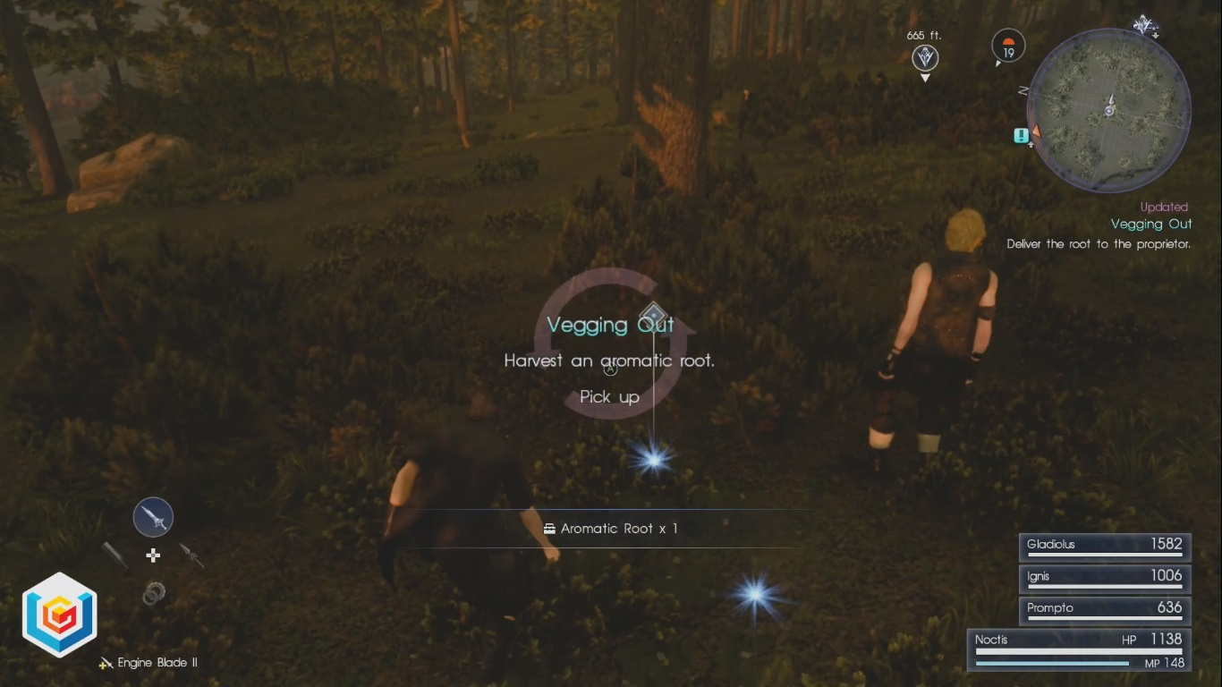 Final Fantasy XV Vegging Out Side Quest Walkthrough