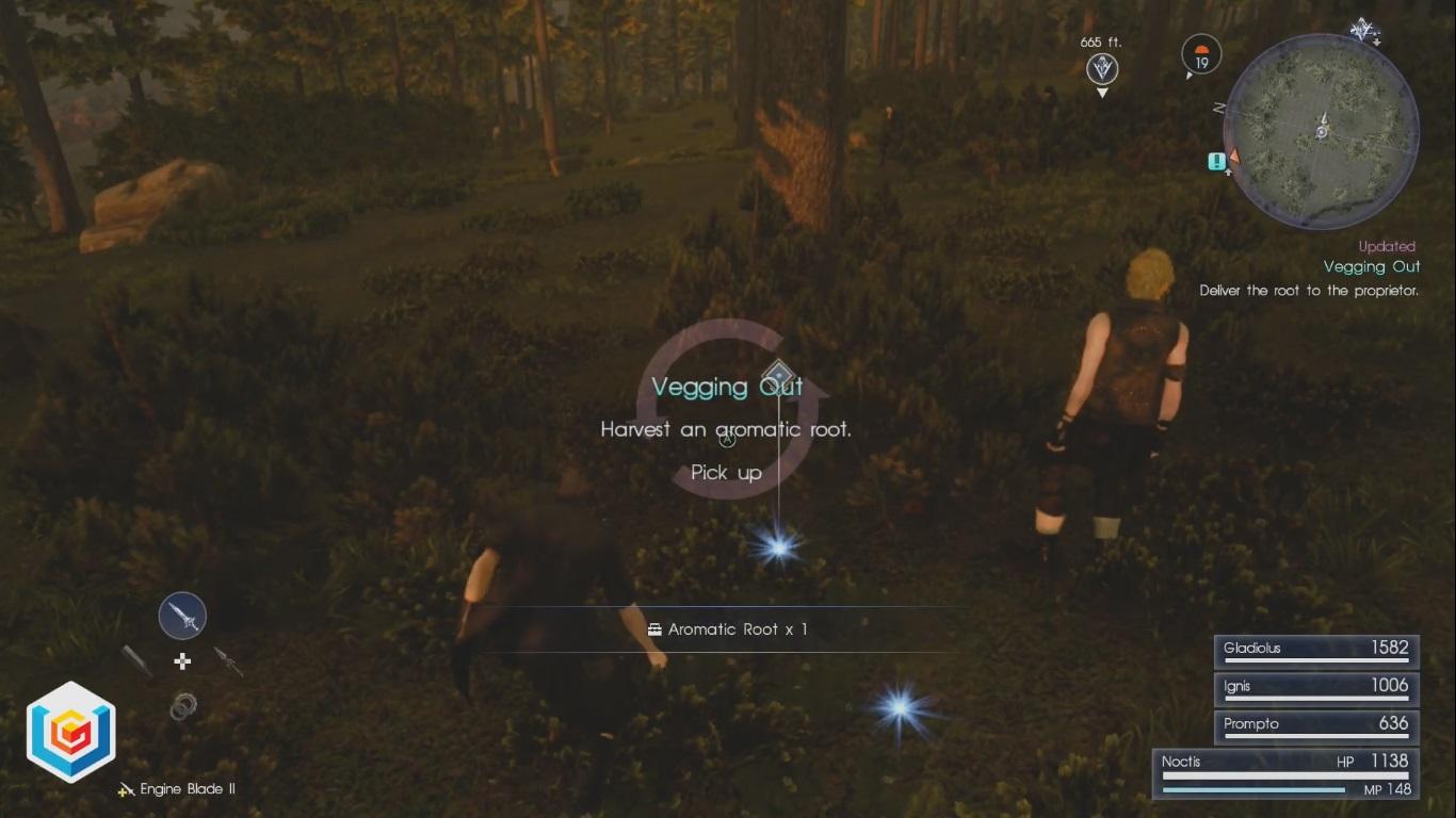Final Fantasy XV Vegging Out Side Quest Walkthrough