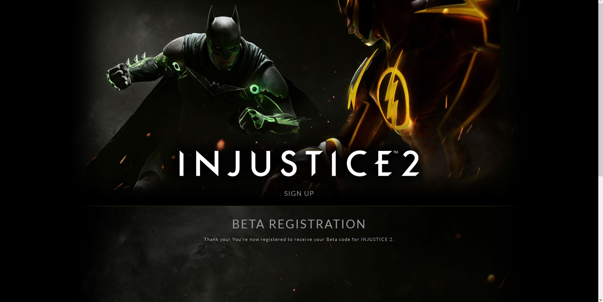 Injustice 2 Beta Sign Up Live