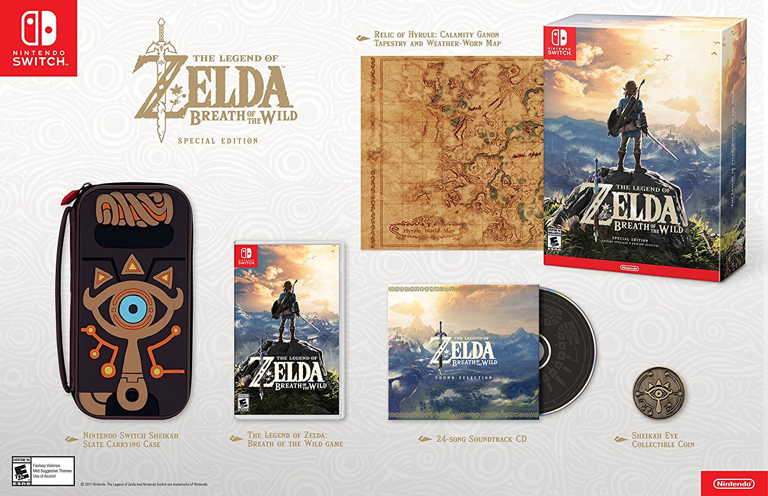 Nintendo Switch The Legend of Zelda Breath of the Wild Special Edition