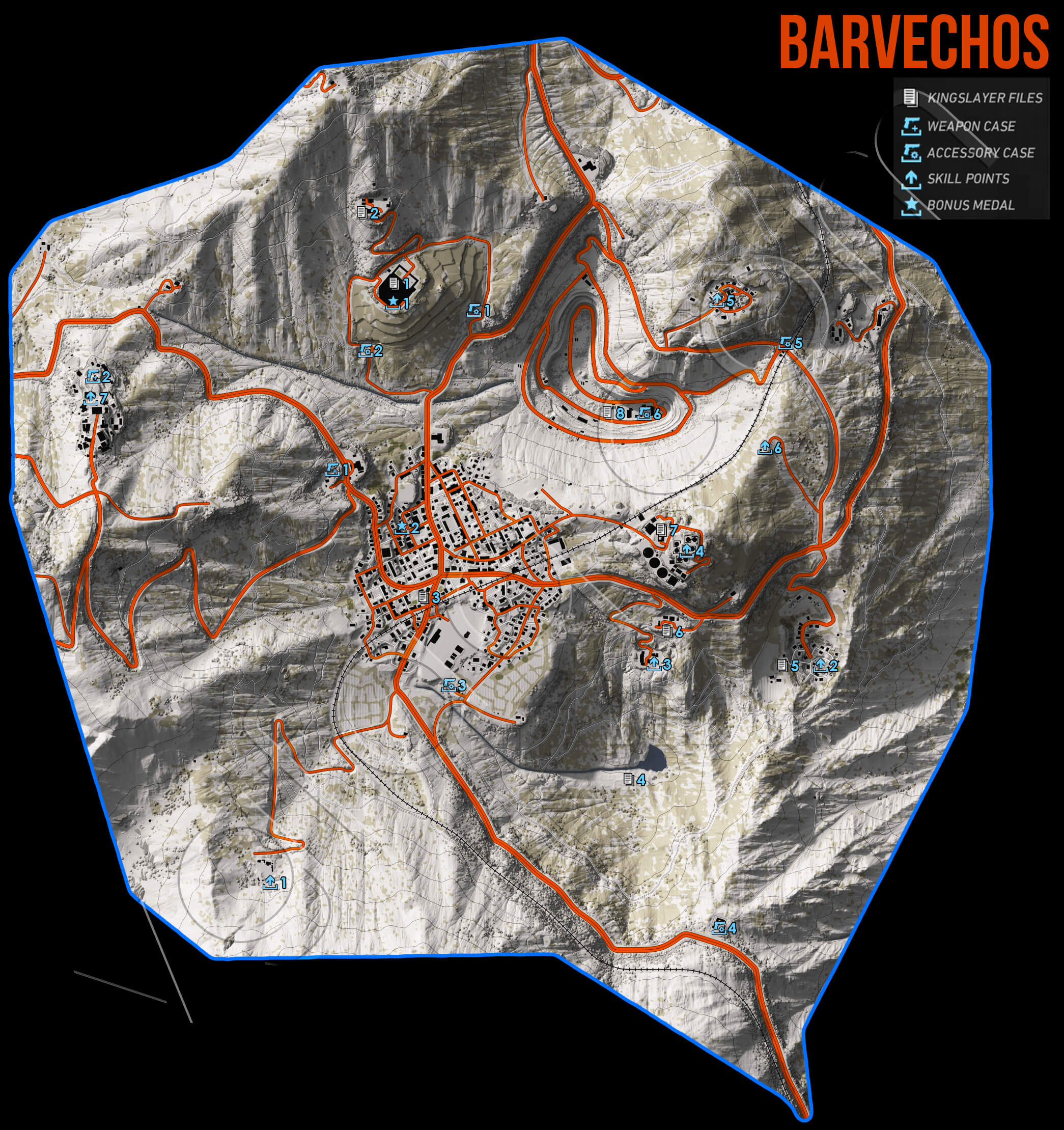 Ghost Recon Wildlands Barvechos Collectables Map