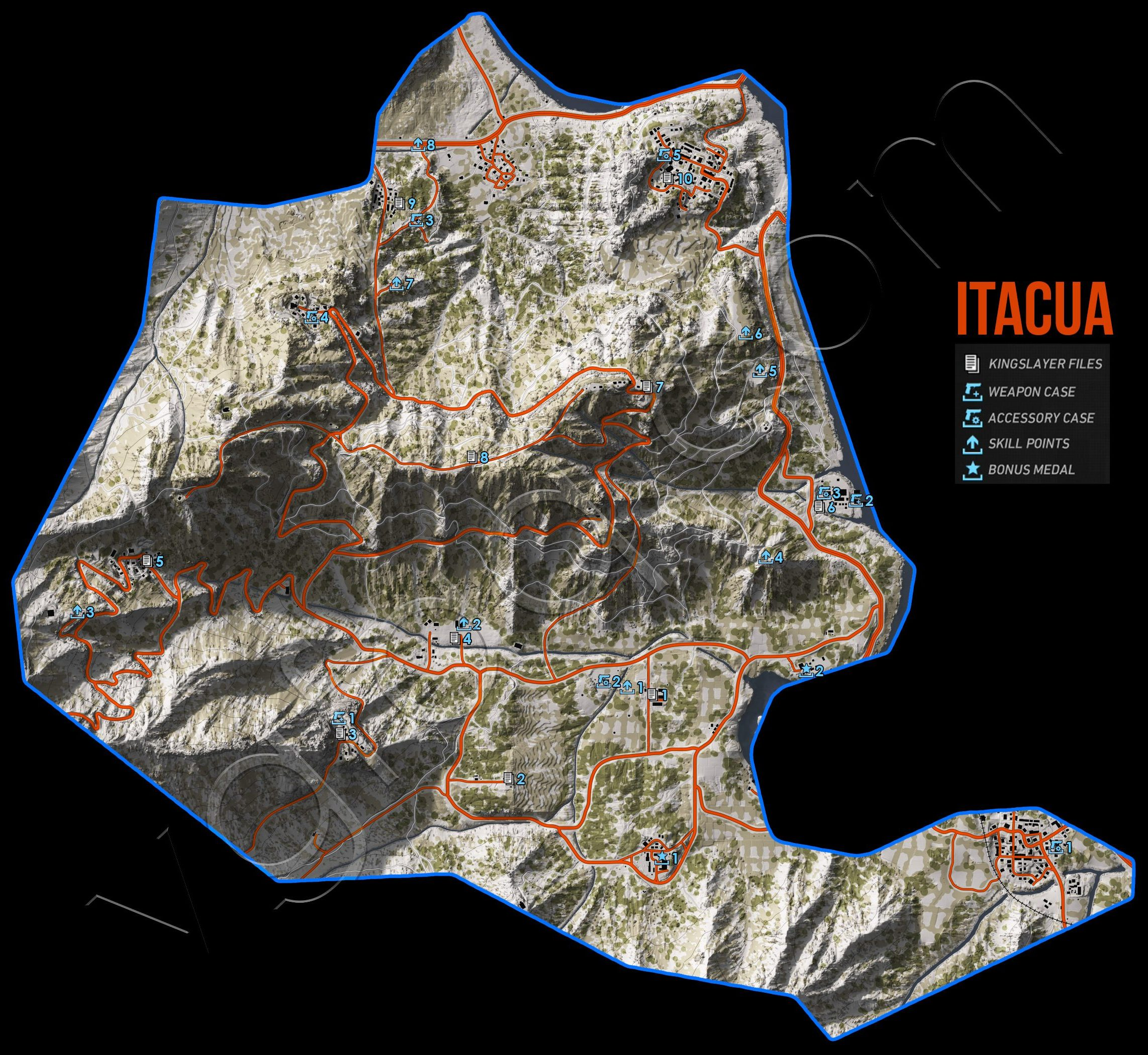 Ghost Recon Wildlands Itacua Collectables Map