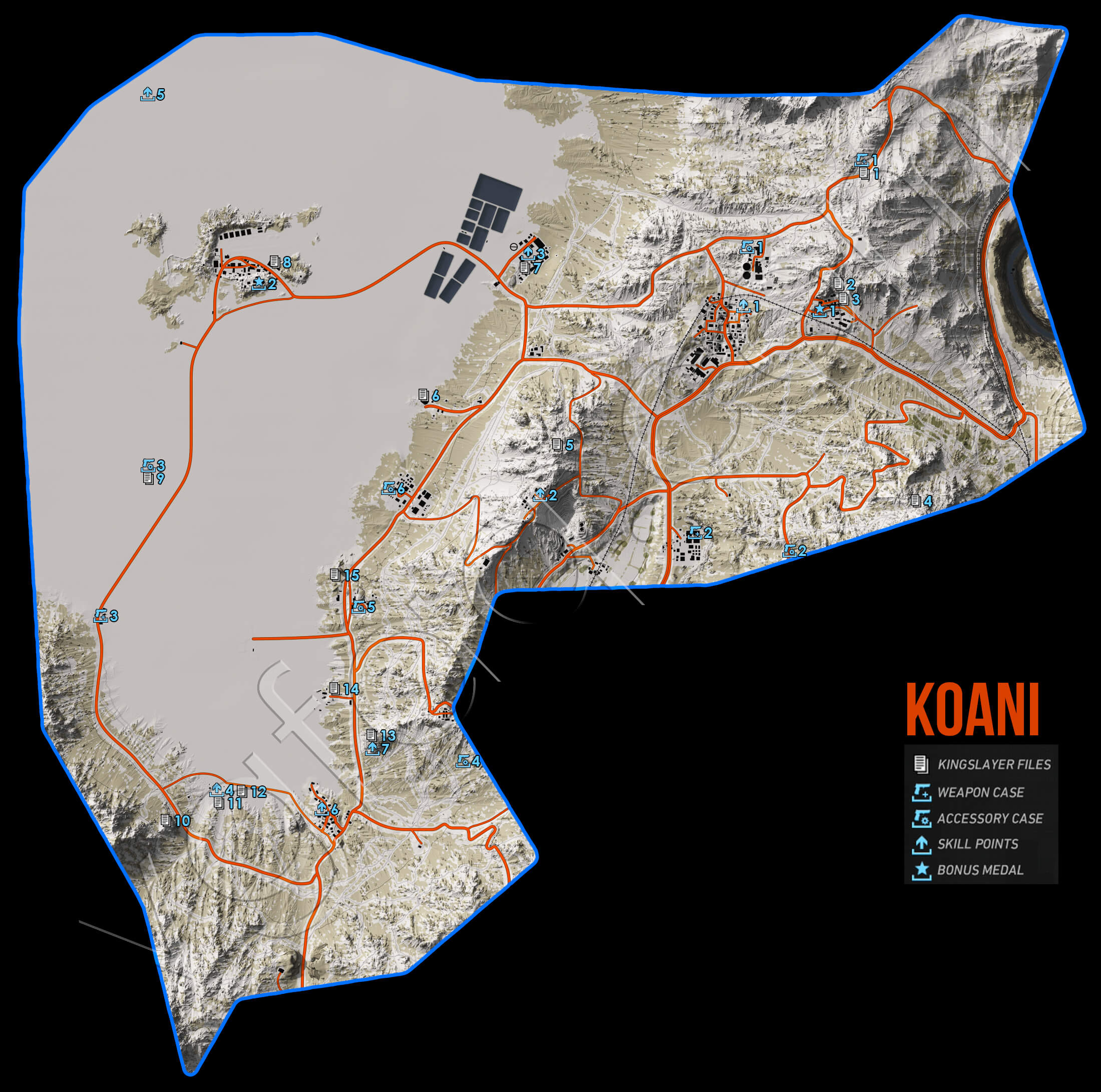 Ghost Recon Wildlands Koani Collectables Map