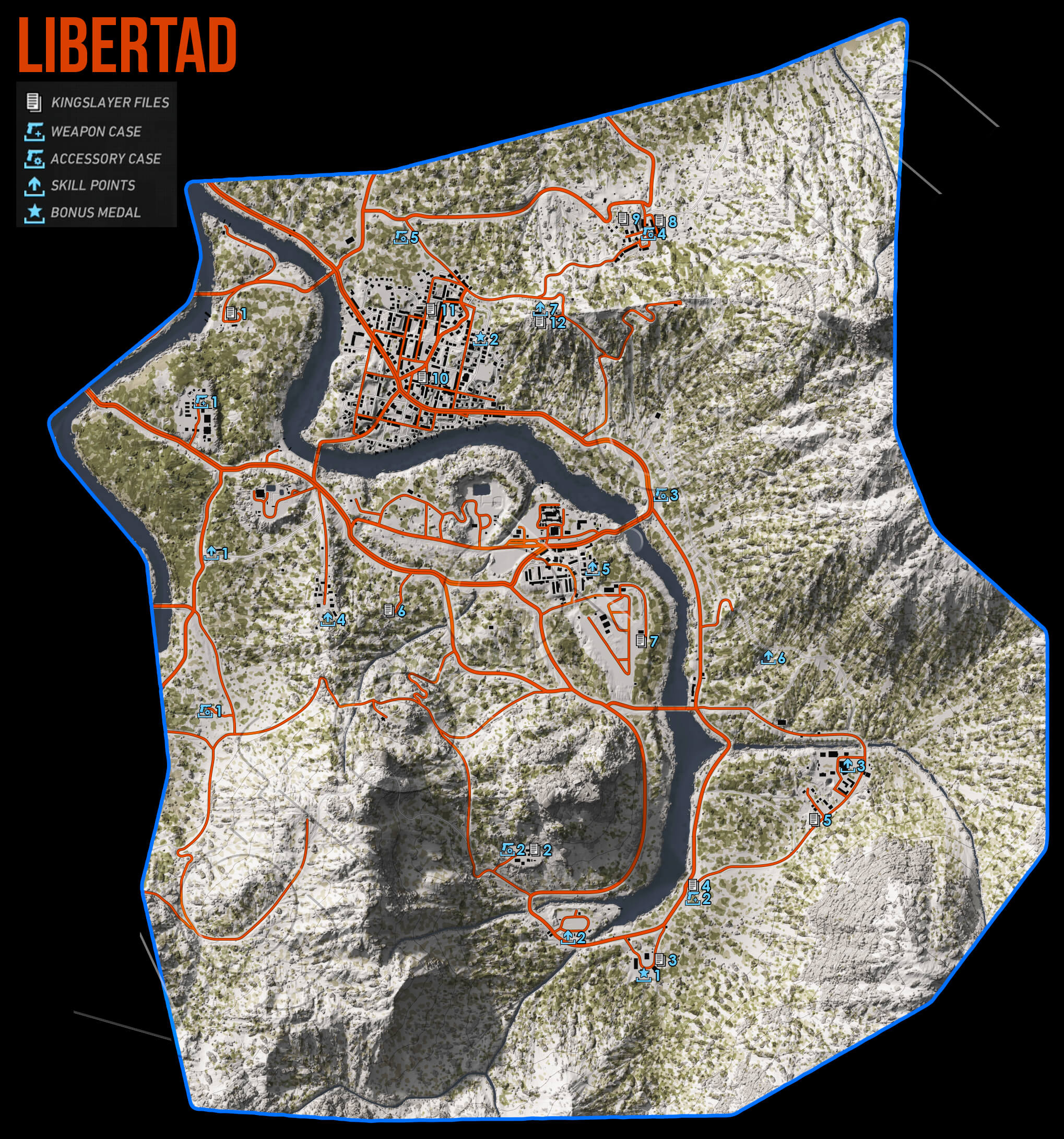 Ghost Recon Wildlands Libertad Collectables Map