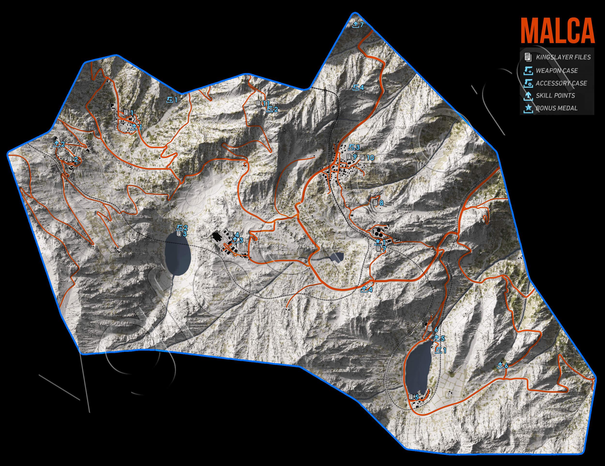 Ghost Recon Wildlands Malca Collectables Map