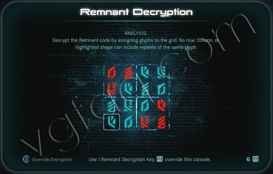 Mass Effect Andromeda Remnant Decryption Puzzle - Elaaden - Task Cache Flow