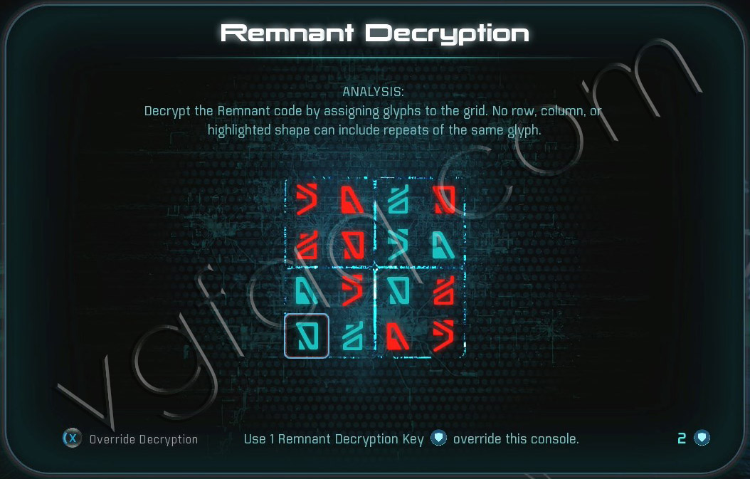 Mass Effect Andromeda Remnant Decryption Puzzle - Eos - Task The Ghost of Promise