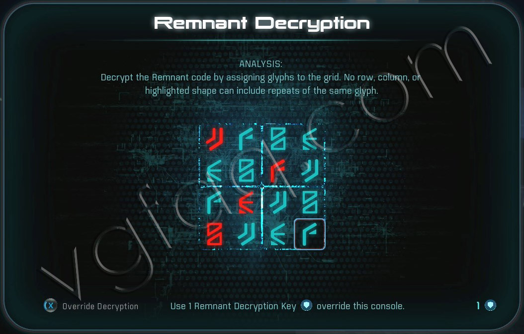 Mass Effect Andromeda Remnant Decryption Puzzle - Havarl Remnant Vault - A Dying Planet