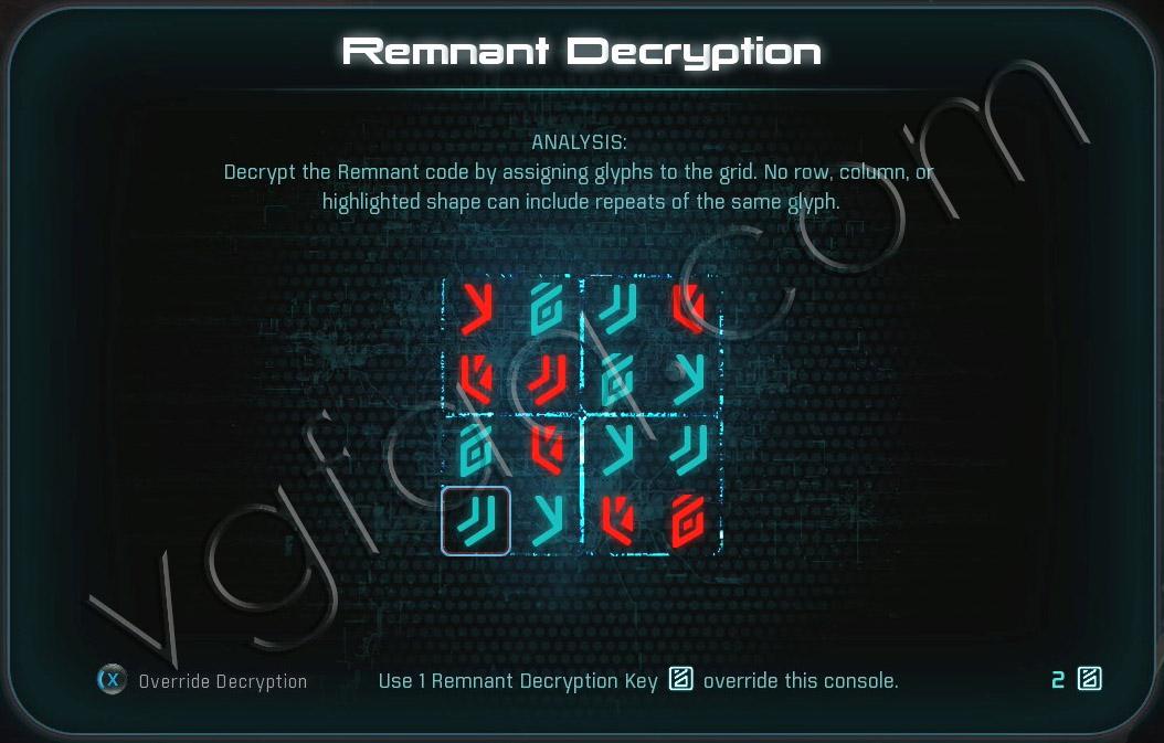 Mass Effect Andromeda Remnant Decryption Puzzle - Kadara Monolith - Healing Kadara's Heart