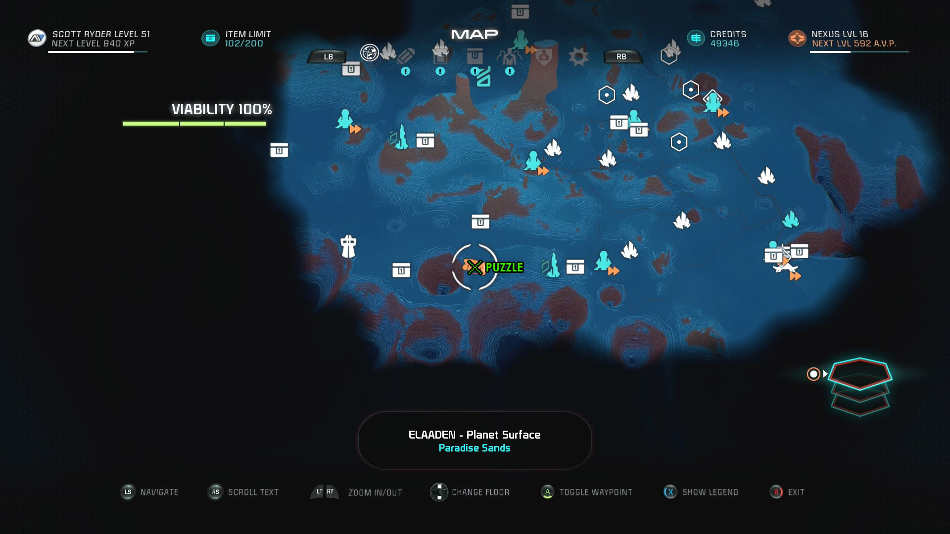 Mass Effect Andromeda Remnant Decryption Puzzle Location - Elaaden - Free Roam