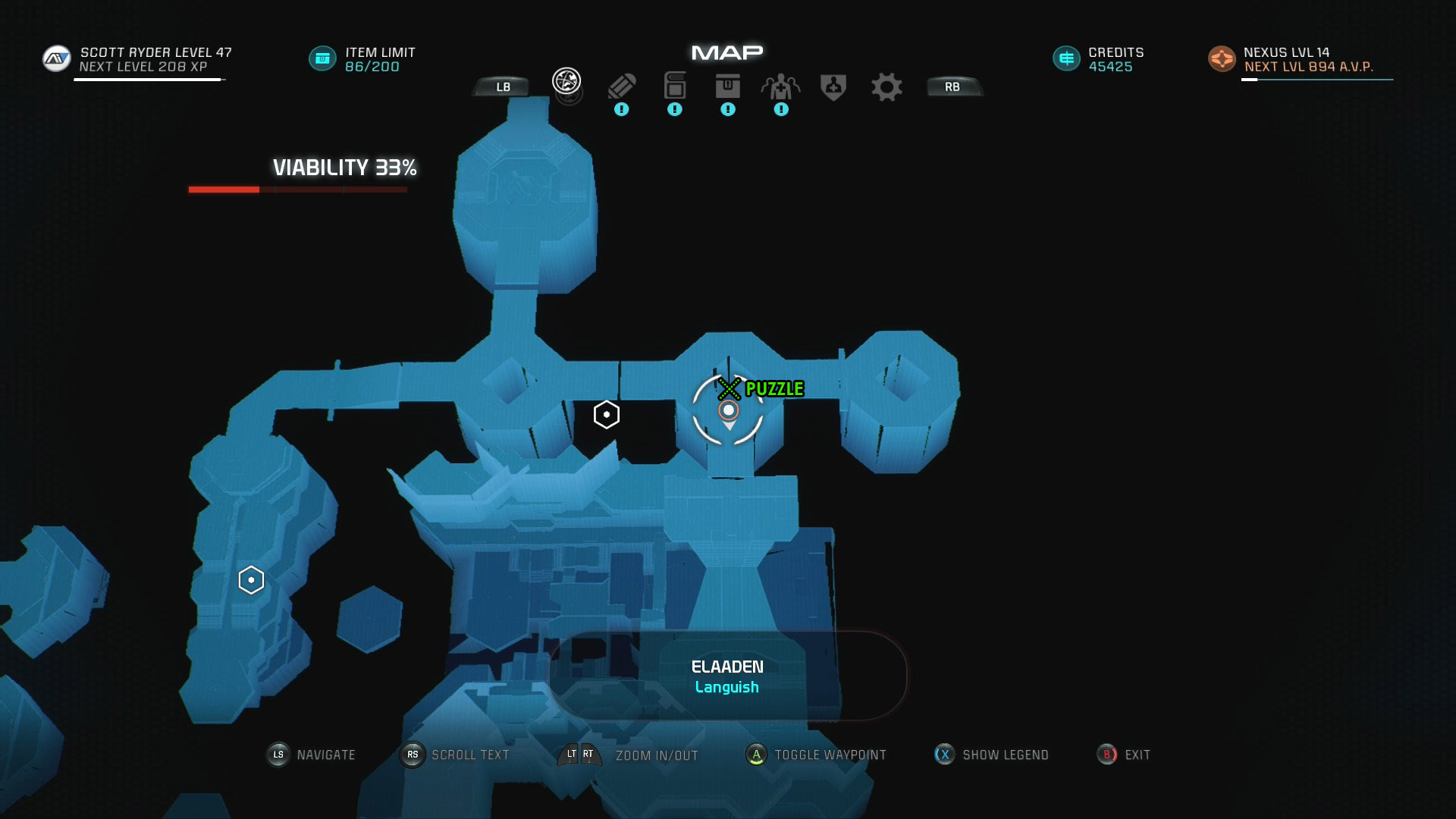Mass Effect Andromeda Remnant Decryption Puzzle Location - Elaaden Remnant Vault - Taming a Desert