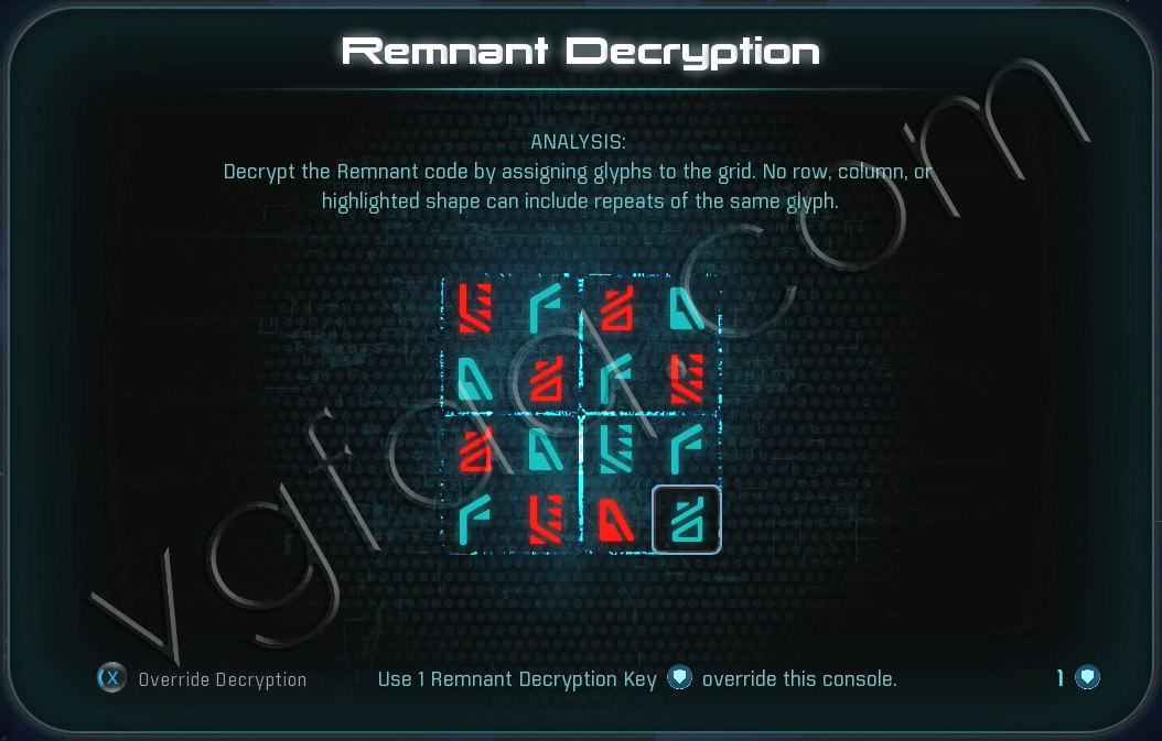 Mass Effect Andromeda Remnant Decryption Puzzle - Voeld - PeeBee Secret Project