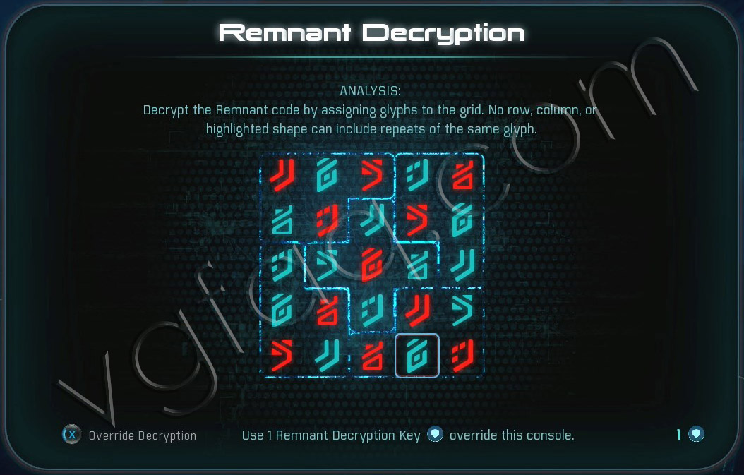 Mass Effect Andromeda Remnant Decryption Puzzle - Voeld South Monolith - Restoring a World