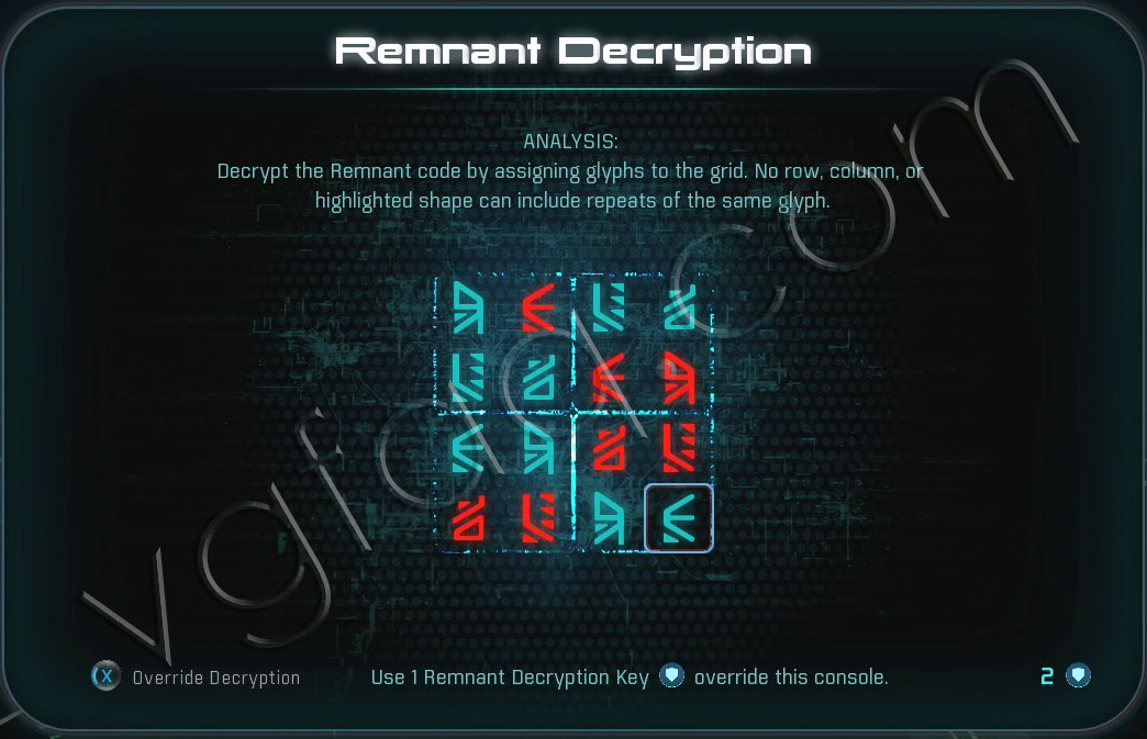 Mass Effect Andromeda Remnant Decryption Puzzle - Voeld - Task Subjugation