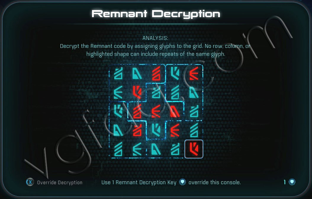 Mass Effect Andromeda Remnant Decryption Puzzle - Voeld West Monolith - Restoring a World