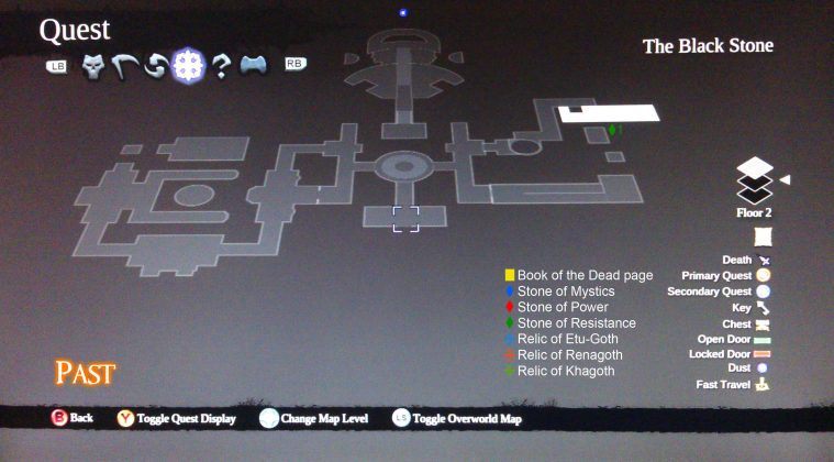 Darksiders II The Black Stone Floor 2 Collectibles Map - Past