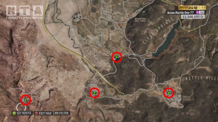 Forza Horizon Barn Finds Locations Southern Area Map