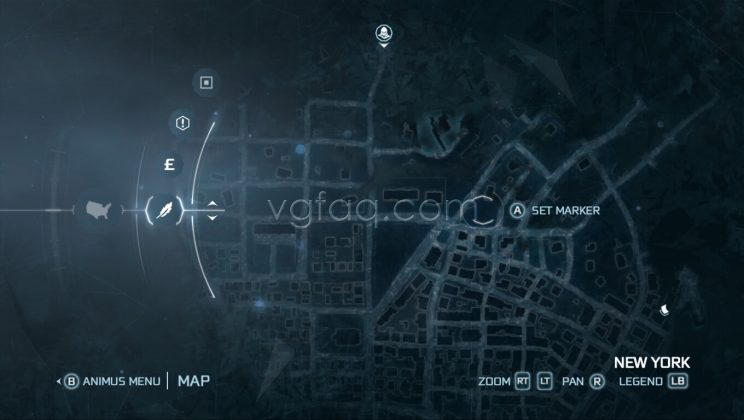 Assassin's Creed III New York North District Almanac Pages Locations