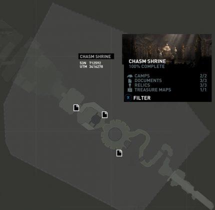Tomb Raider Chasm Shrine Documents Locations