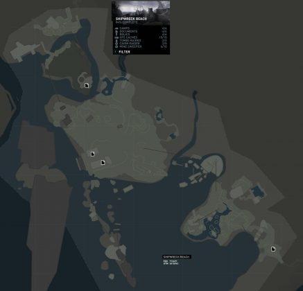 Tomb Raider Shipwreck Beach Documents Locations