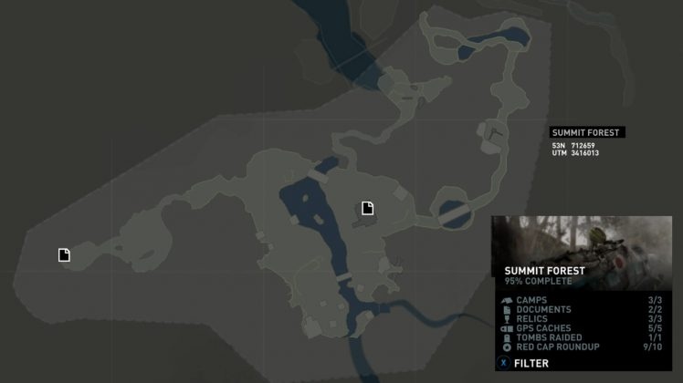 Tomb Raider Summit Forest Documents Locations