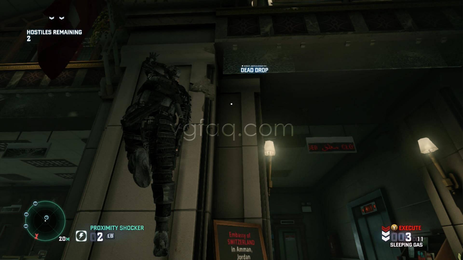 Splinter Cell Blacklist Swiss Embassy Dead Drop Location