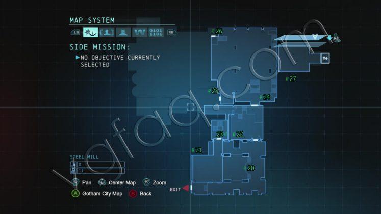 Batman: Arkham Origin Steel Mill 1 Collectibles Locations