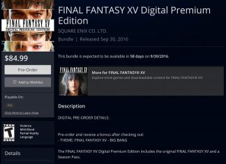 Final Fantasy XV Digital Premium Edition Pre-Order Bonuses Revealed