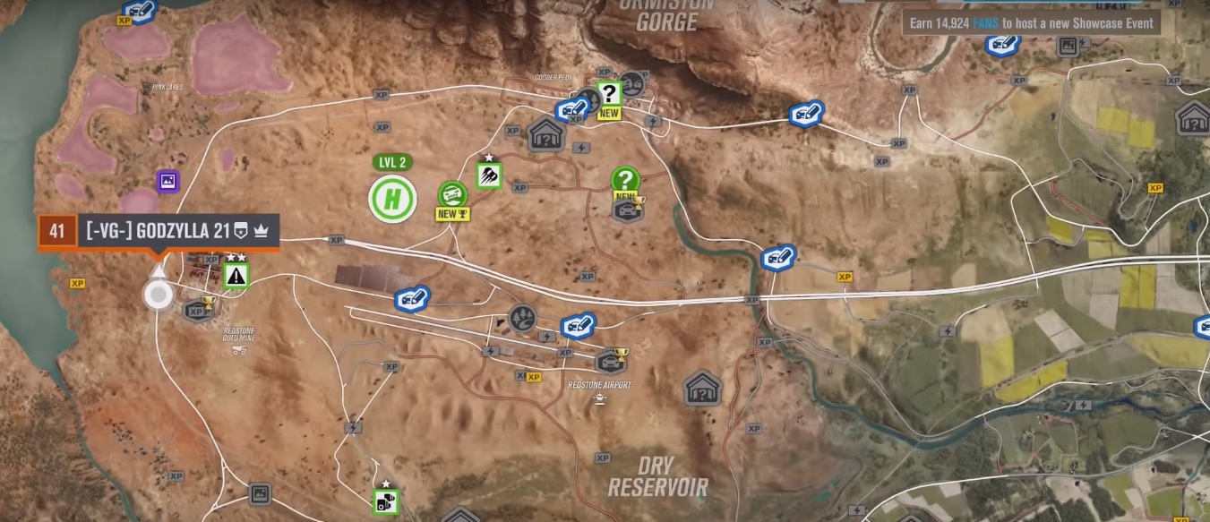 Forza Horizon 3 Pink Lakes Skill Points Farming Spot