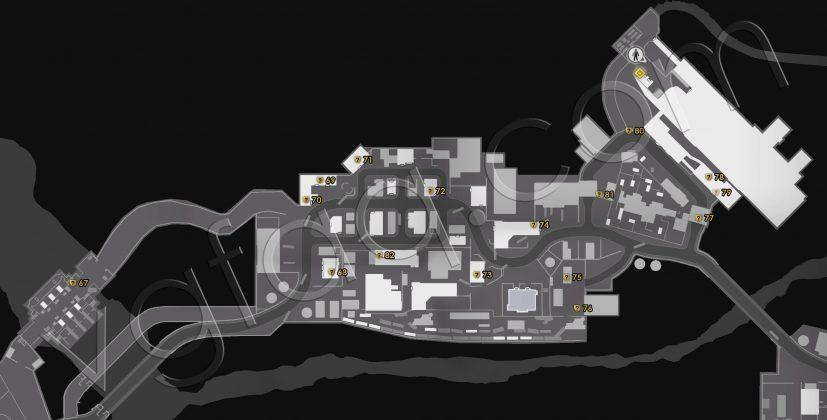 Dead Rising 4 North Peak Cellphones Locations Map