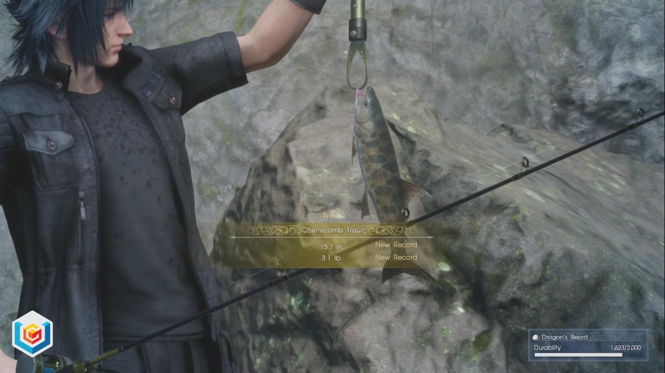 Final fantasy xv fishing naturally side quest walkthrough for Final fantasy 15 fishing