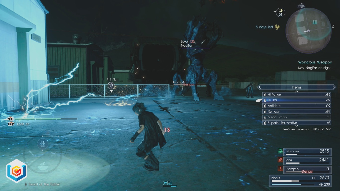 Final Fantasy XV Wondrous Weapon Side Quest Walkthrough