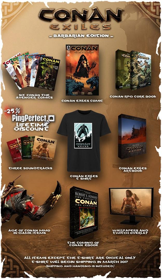 Conan Exiles Barbarian Edition Items