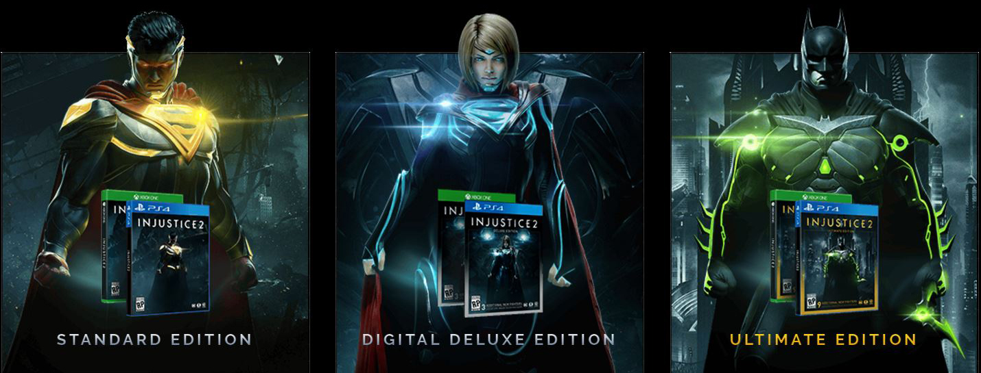 Injustice 2 Editions