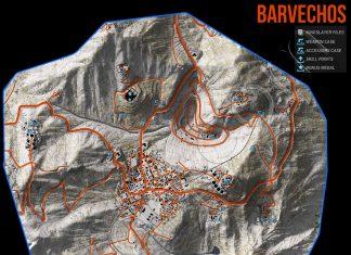 Ghost Recon Wildlands Barvechos Collectables Map