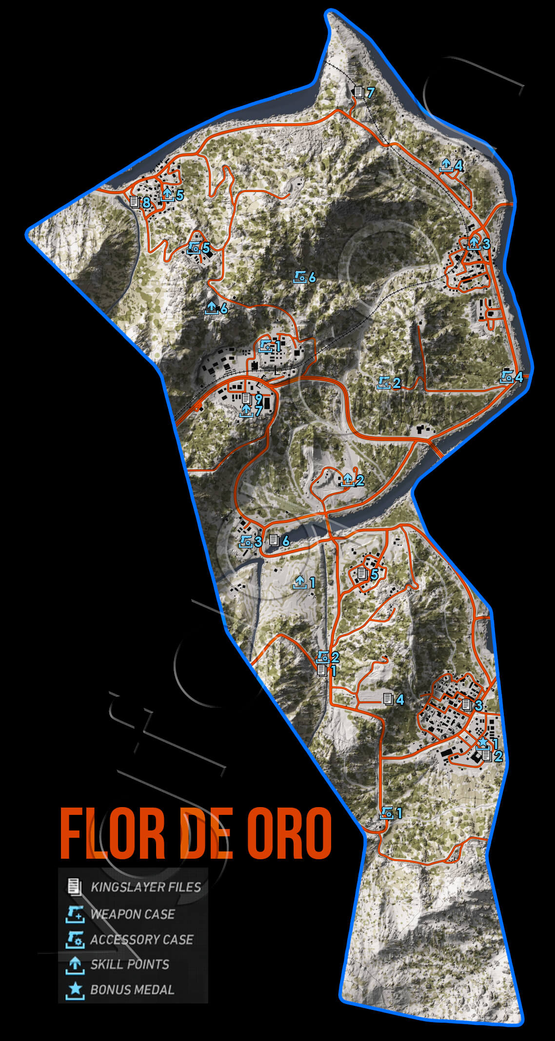 Ghost Recon Wildlands Flor De Oro Collectables Map