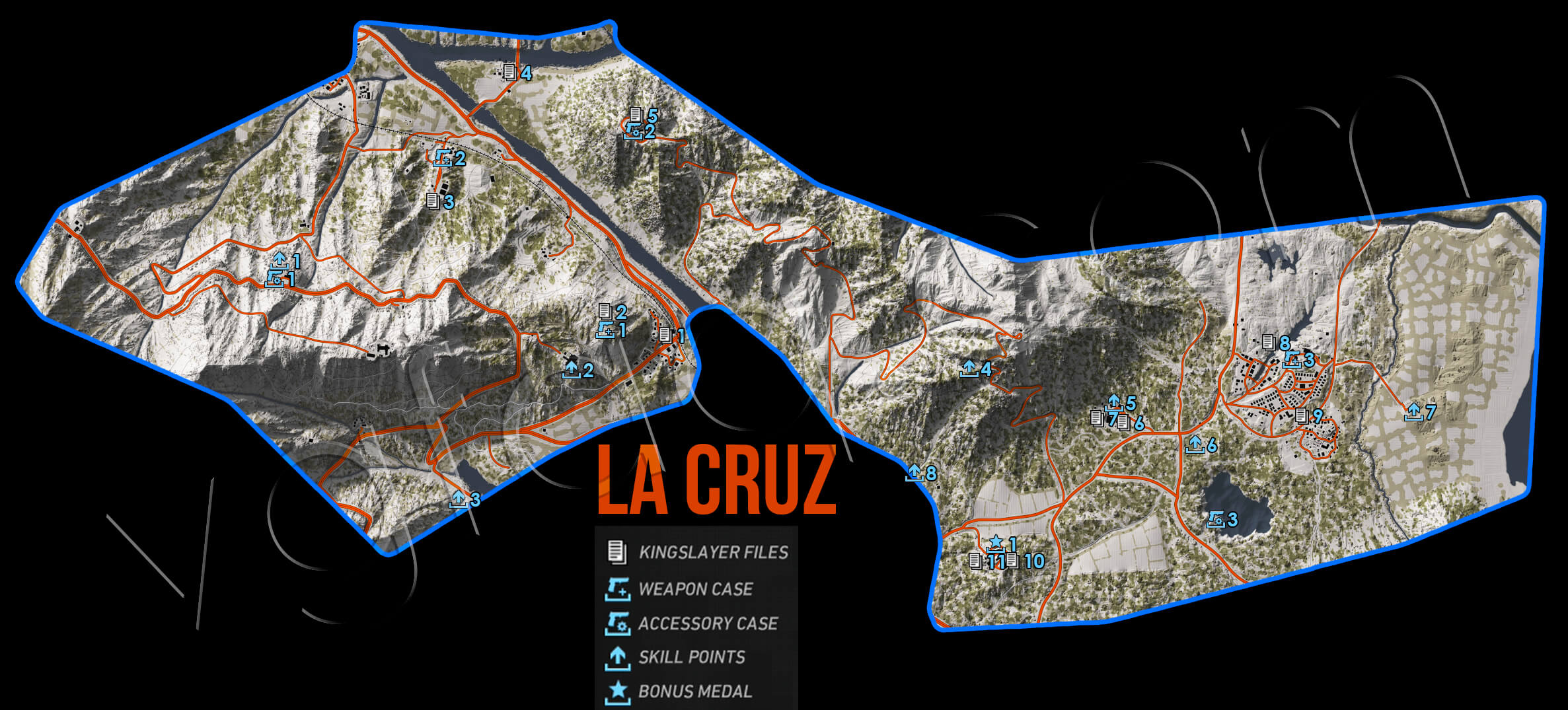Ghost Recon Wildlands La Cruz Collectables Map